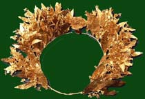 Gold myrtle wreath